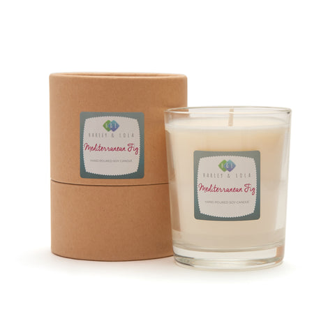 Harley and Lola Glass Candle -Mediterranean Fig - Candles and Diffusers by Harley & Lola available from Harley & Lola - 1