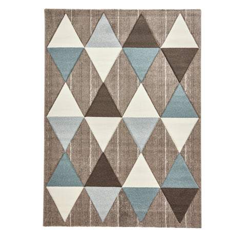 Think Rugs Brooklyn Beige/Blue