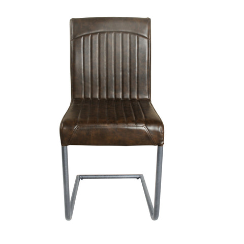 Hoxton Vegan Leather Chair Chestnut Vintage (pack of 4)