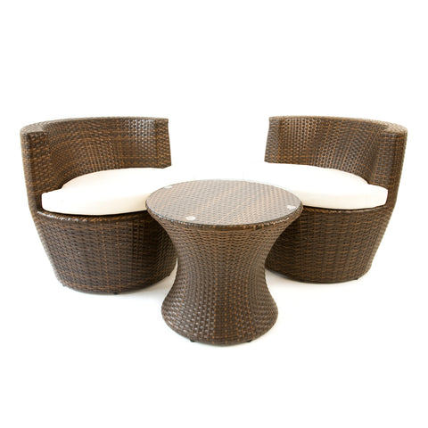 Cozy Bay® Provence Rattan 2 Seater Round Tea For Two Set