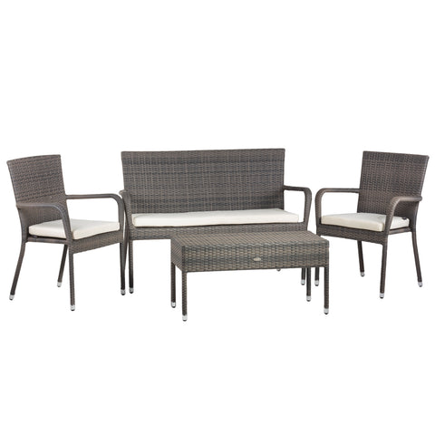 Oseasons® Winchester Rattan 4 Seater Lounge Set