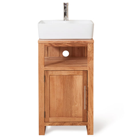 Baumhaus Mobel Solid Oak Single Door Sink Unit (Square)