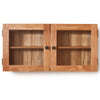 Baumhaus Mobel Solid Oak Glass Double Door Cabinet