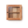 Baumhaus Mobel Solid Oak Glass Single Door Cabinet