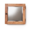 Baumhaus Mobel Solid Oak Mirrored Single Door Cabinet