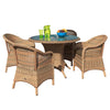 Cozy Bay® Sicilia Rattan 4 Seater Dining Set in 4 Seasons