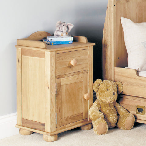 Amelie Oak Bedside Cabinet - - Kids Rooms by Baumhaus available from Harley & Lola - 1