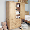 Amelie Oak Children's Double Wardrobe - - Kids Rooms by Baumhaus available from Harley & Lola - 2
