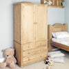 Amelie Oak Children's Double Wardrobe - - Kids Rooms by Baumhaus available from Harley & Lola - 1