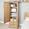 Amelie Oak Children's Single Wardrobe - - Kids Rooms by Baumhaus available from Harley & Lola - 1