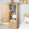 Amelie Oak Children's Single Wardrobe - - Kids Rooms by Baumhaus available from Harley & Lola - 4