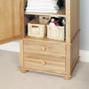 Amelie Oak Children's Single Wardrobe - - Kids Rooms by Baumhaus available from Harley & Lola - 3
