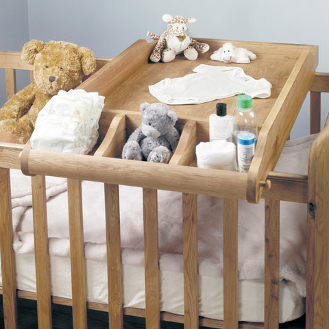 Amelie Oak Cot-Top Baby Changer - - Kids Rooms by Baumhaus available from Harley & Lola - 1