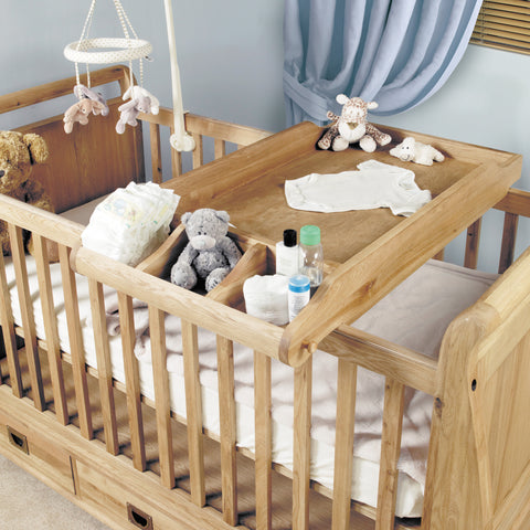 Baumhaus Amelie Oak Cot-Top Baby Changer