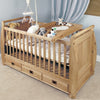 Amelie Oak Cot-Top Baby Changer - - Kids Rooms by Baumhaus available from Harley & Lola - 3