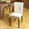 Mayan Flare Back Upholstered Dining Chair - Biscuit - - Living Room by Baumhaus available from Harley & Lola - 1