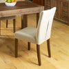 Mayan Flare Back Upholstered Dining Chair - Biscuit - - Living Room by Baumhaus available from Harley & Lola - 5