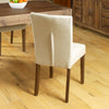 Mayan Flare Back Upholstered Dining Chair - Biscuit - - Living Room by Baumhaus available from Harley & Lola - 4