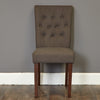Baumhaus Shiro Flare back Upholstered Dining Chair - Slate