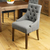 Mayan Walnut Accent Upholstered Dining Chair - Stone - - Living Room by Baumhaus available from Harley & Lola - 1