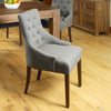 Mayan Walnut Accent Upholstered Dining Chair - Stone - - Living Room by Baumhaus available from Harley & Lola - 5