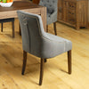 Mayan Walnut Accent Upholstered Dining Chair - Stone - - Living Room by Baumhaus available from Harley & Lola - 4