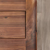 Baumhaus Shiro Walnut 3 Drawer Filing Cabinet