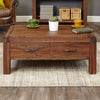 Baumhaus Shiro Walnut Four Drawer Coffee Table
