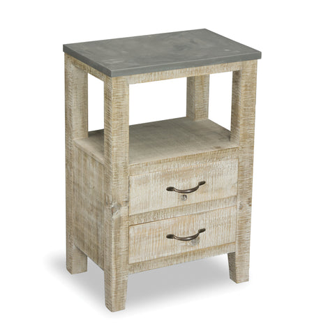 Oslo 2 Drawer Pine Side Table