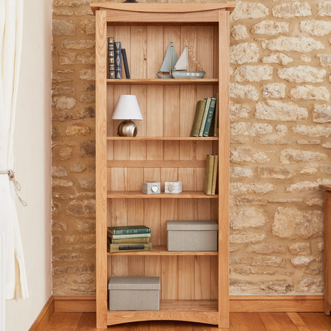 Baumhaus Roscoe Contemporary Oak Large Bookcase