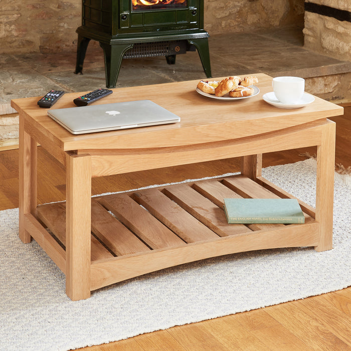 Baumhaus Roscoe Contemporary Oak Coffee Table