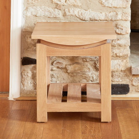 Baumhaus Roscoe Contemporary Oak Lamp Table