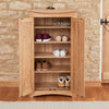 Baumhaus Roscoe Contemporary Oak Shoe Storage Cupboard