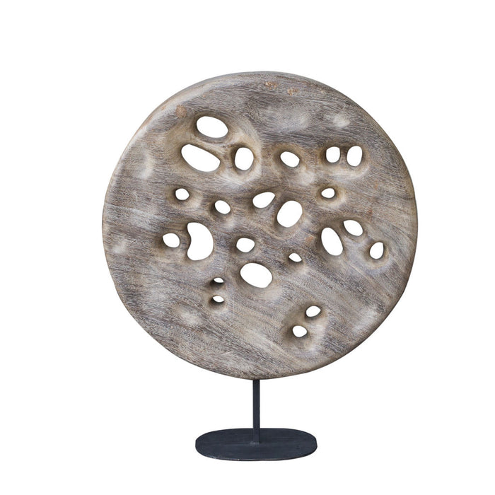 ManTeak Quinn Wooden Deco - Moon Scape