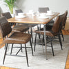 Hoxton Vegan Leather Dining Chair (pack of two)