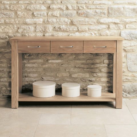 Mobel Oak Console Table - - Living Room by Baumhaus available from Harley & Lola - 1