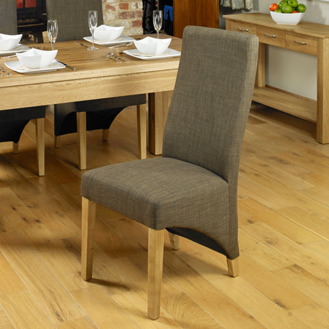 Baumhaus Aston Full Back Upholstered Dining Chair