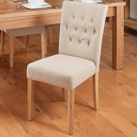 baumhaus mobel flare back upholstered dining chair biscuit