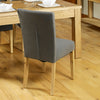 Mobel Flare Back Upholstered Dining Chair - Slate - - Living Room by Baumhaus available from Harley & Lola - 7