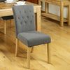 Mobel Flare Back Upholstered Dining Chair - Slate - - Living Room by Baumhaus available from Harley & Lola - 6