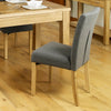 Mobel Flare Back Upholstered Dining Chair - Slate - - Living Room by Baumhaus available from Harley & Lola - 5