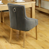 Aston Oak Accent Upholstered Dining Chair - Stone - - Living Room by Baumhaus available from Harley & Lola - 6