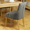 Aston Oak Accent Upholstered Dining Chair - Stone - - Living Room by Baumhaus available from Harley & Lola - 5
