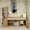 Mobel Oak Large Hidden Office Twin Pedestal Desk - - Living Room by Baumhaus available from Harley & Lola - 2
