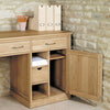 Mobel Oak Large Hidden Office Twin Pedestal Desk - - Living Room by Baumhaus available from Harley & Lola - 3