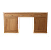 Mobel Oak Large Hidden Office Twin Pedestal Desk - - Living Room by Baumhaus available from Harley & Lola - 5