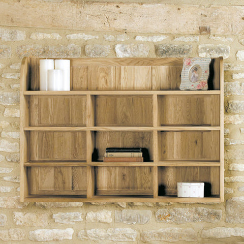 Mobel Oak Reversible Wall Rack - - Living Room by Baumhaus available from Harley & Lola - 1
