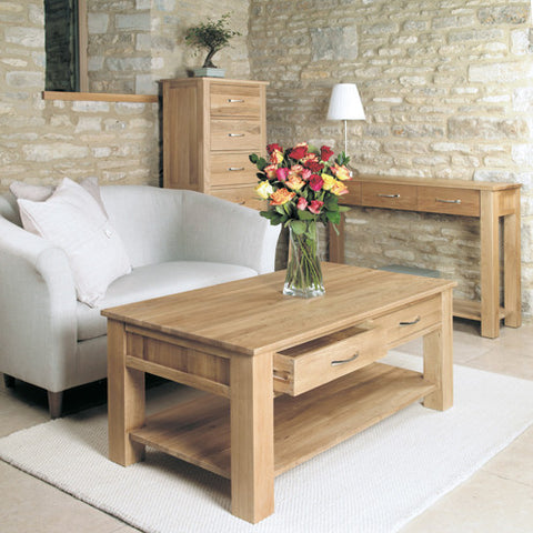 picture mobel oak. Baumhaus Mobel Oak Four Drawer Coffee Table Picture