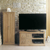 Mobel Oak Four Drawer Television Cabinet - - Living Room by Baumhaus available from Harley & Lola - 2