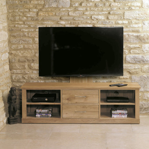 Mobel Oak Mounted Widescreen Television Cabinet - - Living Room by Baumhaus available from Harley & Lola - 1